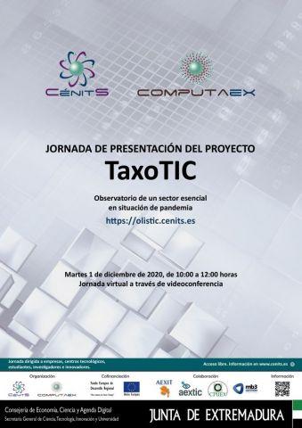 Jornada de presentación de resultados del proyecto TaxoTIC sobre la evolución del sector TIC en Extremadura